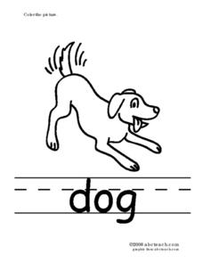 Phonics: Four (Sight Word and Printing Practice) Worksheet