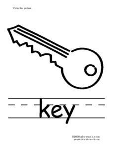 Phonics: Keys Worksheet