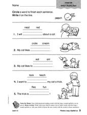 Phonics: Long e Spelled ea Worksheet
