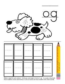 "Phonics ""og"" Flipbook Lesson Plan"