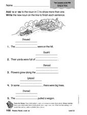 Phonics: Plurals -s and -es Worksheet