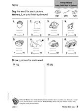 Phonics: Short a, i, u Worksheet