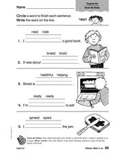 Phonics: Short e/ea Worksheet