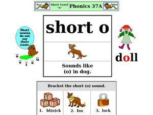 Phonics: Short O 37A Worksheet