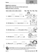 Phonics: Short Vowel Pattern CVC Worksheet