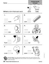Phonics: Silent Consonants - kn, mb Worksheet