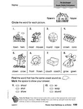 Phonics: Vowel Diphthongs ou, ow Review Worksheet