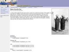 Photos from the Past-Grades 5-8 Lesson Plan