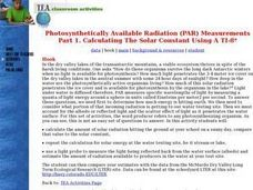 Photosynthetically Available Radiation (PAR) Measurements Part 1: Calculating the Solar Constant using a TI-8 Lesson Plan