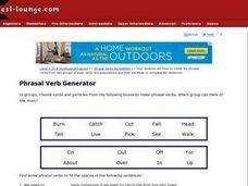 Phrasal Verb Generator 2 Worksheet