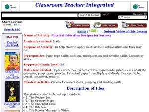 Physical Education Recipes for Success Lesson Plan