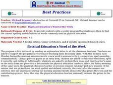 Physical Education Word of the Week Lesson Plan