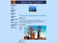 Physical Geography Of Africa 5th Grade Lesson Plan Lesson Planet
