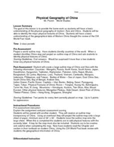 Physical Geography of China Lesson Plan
