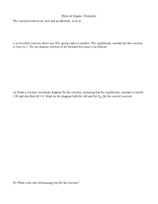 Physical Organic Chemistry Worksheet