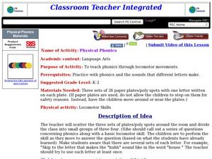 Physical Phonics Lesson Plan
