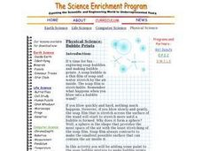 Physical Science:  Bubble Prints Lesson Plan