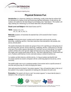 Physical Science Fun Lesson Plan