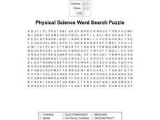 physical science word search puzzle 6th 9th grade. Black Bedroom Furniture Sets. Home Design Ideas