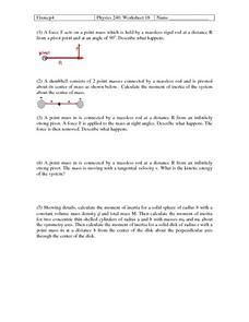Physics 240: Forces Worksheet