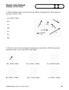 Worksheets Adding Vectors Worksheet vector worksheets adding vectors worksheet elleapp