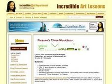 Picasso's Three Musicians Lesson Plan