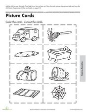 Picture and Word Cards Worksheet