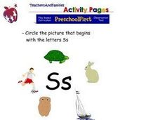 Picture Association With the Letter S Worksheet