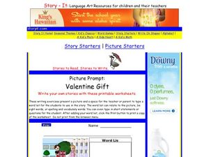 Picture Prompt: Valentine Gift Worksheet