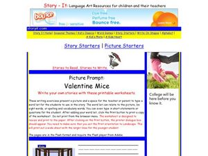 Picture Prompt: Valentine Mice Worksheet