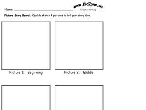 Picture Story Board Worksheet