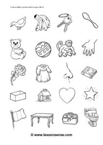 Picture Words: B Worksheet