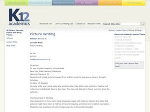 Picture Writing Lesson Plan