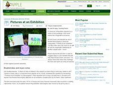 Pictures at an Exhibition Lesson Plan