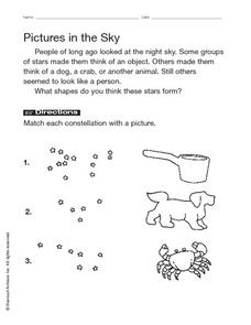Pictures in the Sky Worksheet