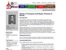 Pictures in Words: Poems of Tennyson and Noyes Lesson Plan