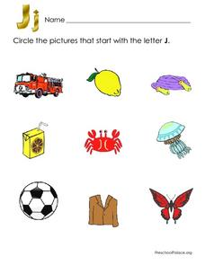 Pictures That Start With Letter J Lesson Plan