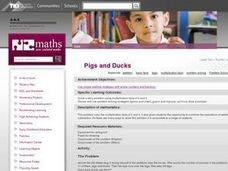 Pigs and Ducks Lesson Plan