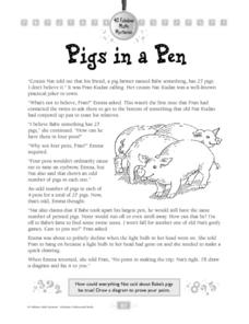 Pigs in a Pen Worksheet