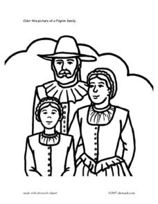 Pilgrim Family Picture Worksheet