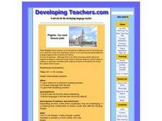 Pilgrim for rent lesson plan Lesson Plan