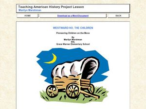 Pioneering Children on the Move Lesson Plan