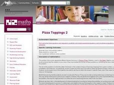 Pizza Toppings 2 Lesson Plan