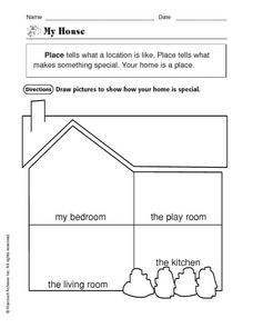 Place: My House Worksheet