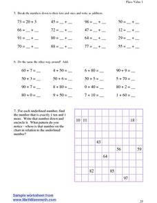 Place Value 1-- Breaking Down Numbers Lesson Plan