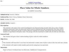 Place Value for Whole Numbers Lesson Plan