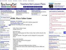 Place Value Game Lesson Plan