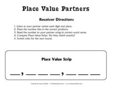 Place Value Partners Worksheet