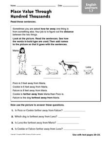 Place Value Through Hundred Thousands English Learners 1.7 Worksheet