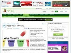 Place Value Throwing Lesson Plan